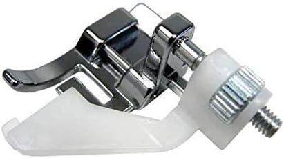 La Canilla ® - Prensatelas de Dobladillo Invisible Regulable, Puntada Ciega para Máquinas de Coser Alfa, Singer Elna, Juki, Brother, Lidl (Snap-On)