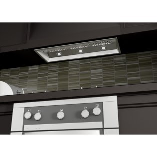 "1200 CFM Ducted Wall Mounted Range Hood Size: 14.2"" H x 40"" W x 15"" D"