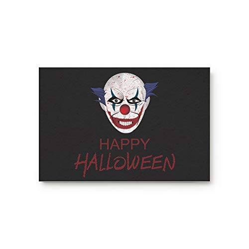 KAROLA Happy Halloween Clown Pattern Doormat Entrance Mat Floor Mat Rug Indoor/Bathroom Mats Home Decor Mat with Non Slip Backing 23.6