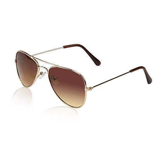 80's Sunglasses For Kids Sun Glass Kid Sunglasses Teen Toddlers Baby Fun Brown]()