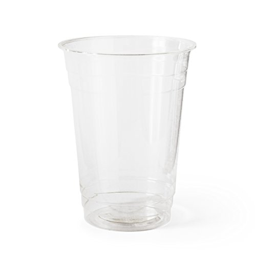 Susty Party Supplies 858798005390 Susty Party Cup, 16 oz, Clear - 50 Cups, Large