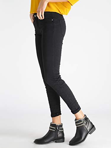 stropicciato effetto jeans FIRE Pantaloni Nero FIRE WqP1Szx