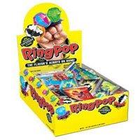 Topps Ring Pop Fruit Fest Pop Candy - 24/Box