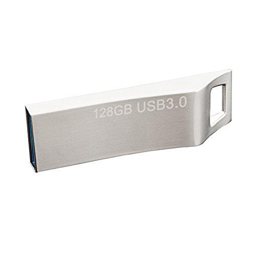 JUANW 128GB USB3.0 Metal Flash Drive Waterproof Jump Drive S
