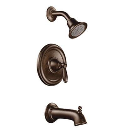 Amazon.com: Moen T2153ORB Brantford PosiTemp Tub and Shower Trim Kit ...