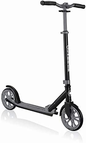 Globber NL 500-205 2-Wheel Folding Kick Scooter - Reflective and Adjustable Height T-Bar - Comfort Handlebar Grips - for Kids 8+, Teens, and Adults