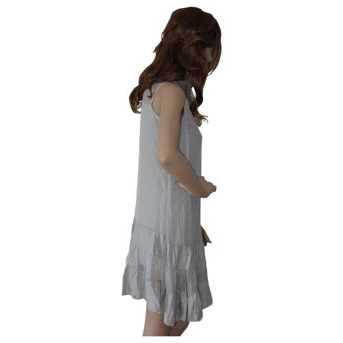 Mujer, vestido, Gris de humo, Gris, vestido de cóctel, para vestido de noche, cómoda., S/M, 100% seda