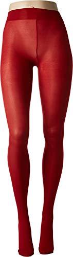 HUE Women's Opaque Tights Deep Red -