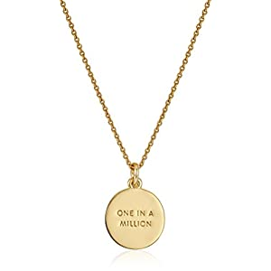 "Kate Spade New York ""Kate Spade Pendants E Pendant Necklace, 17"" + 3.5"" Extender"