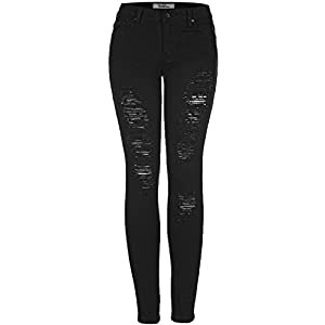 2LUV Women's Distressed Skinny Jeans