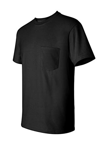 - Gildan Mens 6.1 oz. Ultra Cotton Pocket T-Shirt G230 -BLACK S