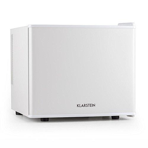 Klarstein Mini-réfrigérateur Geheimversteck (puissance :50 W, capacité :17 L, classe énergétique A+, température réglable de 4,5  à 15 °C, faible émission sonore : 39 dB, support pour ancrage mural) blanc