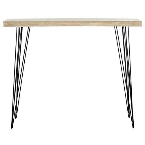 Ash Veneer Hairpin Style Legs and Wood Top Console Table + Free Basic Design Concepts Expert Guide (Veneer Ash Top)
