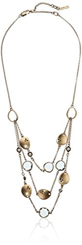 Kenneth Cole New York Scattered Pave Gold Tone Multi-Row Illusion Necklace
