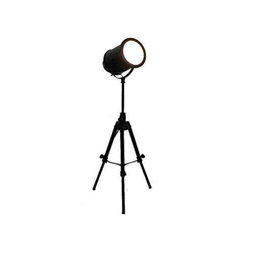 E27 Retro Industrial Style Creative Adjustable Legs Personality Black Glass Lift Cast Floor Lamp