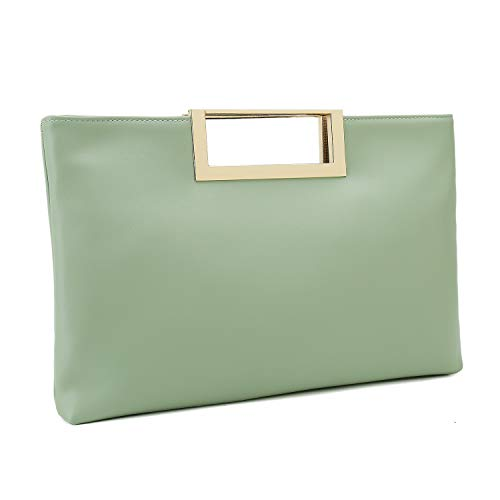 (Charming Tailor Fashion PU Leather Handbag Stylish Women Convertible Clutch Purse (Mint))