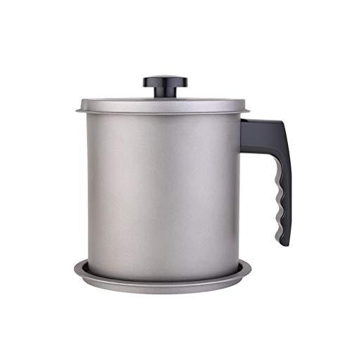 BESTONZON Filtro aceite cocina grasera inox carne puede el encargado de la grasa con el colador y la tapa