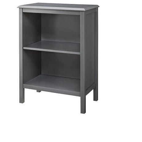 Amazon.com: Threshold Windham 2-Shelf Bookcase - Gray: Kitchen ...