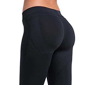 Laisa Sports Women's Compression Thigh Slimming Butt Lift Workout Leggings Hip Push Up Stretch Yoga Pants
