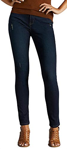 LEE Women's Slimming Fit Rebound Skinny Leg Jean, Electric-Destruction Features, 18 ()