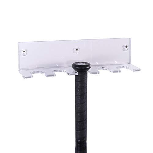 (RonXer Bat Display Wall Mount, Softball Baseball Bat Rack Holder for Souvenir Storage -Acrylic,Clear )
