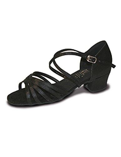 Satin Ballroom Valley Black Strap BELLA Shoe X Roch O1qwZT1