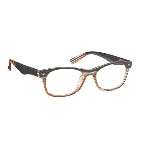 ICU Eyewear Austin Brown Two Tone Striated Men Reading Glass