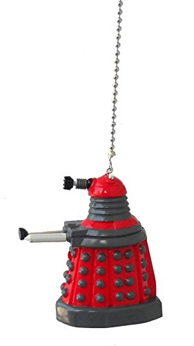 doctor Dr. Who character - CEILING Fan PULL light chain ornament (Red Dalek robot) by Knight