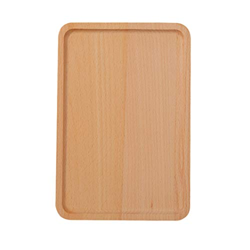 Practical Cutlery Restaurant Round Corners Serving Tray Kitchen Beechwood Tableware Dessert Dinner Plate - Beechwood Cutlery Tray
