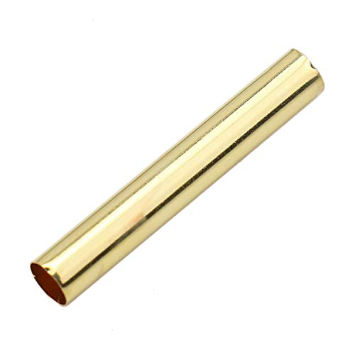 Monrocco Pack of 100 pcs Brass Straight Long Tube Spacer Beads Noodle Tube