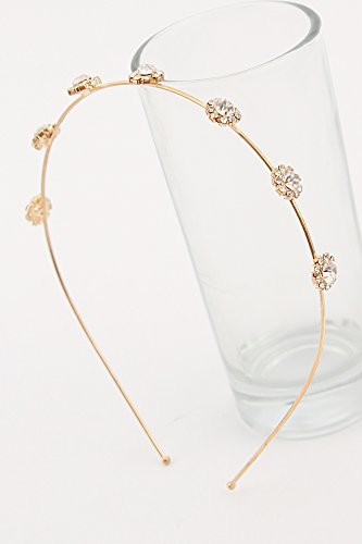 Sweet Diamond Thin Edge Hair Bands Unique Creative Retro Headband Academy high Spirit Ornaments Head Ornaments (Pierced Gold Models of 11#