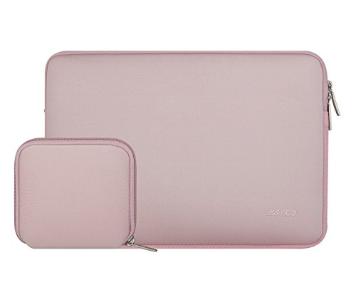 Mosiso Water Repellent Lycra Sleeve Bag Cover for 11-11.6 Inch MacBook Air, Ultrabook Netbook Tablet with Small Case, Baby Pink
