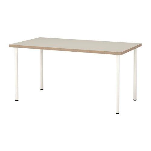 LINNMON / ADILS テーブル, ベージュ, ホワイト 992.143.23 B075V3V2YW