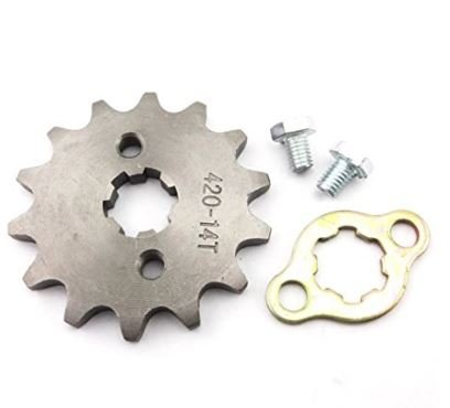 420 14T 17mm Front Chain Sprocket 50cc 70cc 90cc 110cc 125cc Pit Dirt Bike ATV