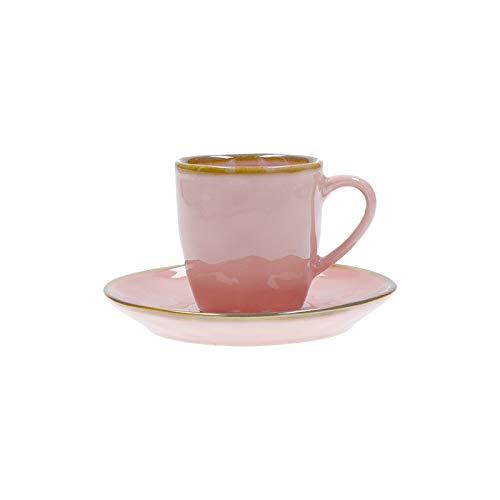 Nador Concerto Grigio Tortora Espresso Cup with Saucer Cap 90 Cc Nylon//A Grey