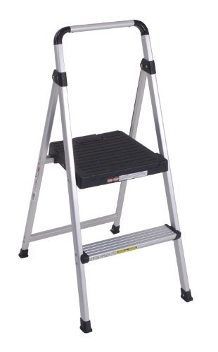TruePower 2-Step Aluminum Ultra-Light Step Stool Ladder with 225 lb. Load Capacity by TruePower by TruePower