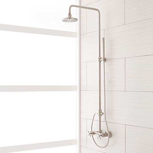 416171 Stiles Exposed Shower System with Rain Shower Head, Hand Shower and Hose - Rough In Included