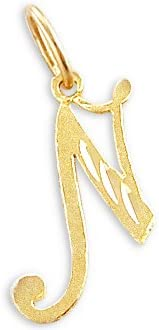 Sonia Jewels 14k Yellow Gold Initial Letter N Pendant