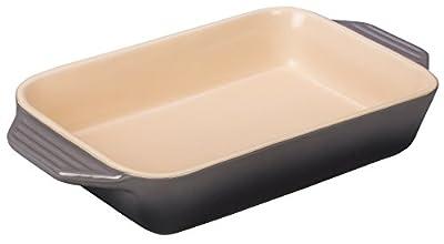 "Le Creuset Stoneware 1.8 qt. [10.5"" x 7""] Rectangular Dish - Marine"