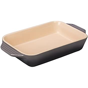 Le Creuset PG1047S-187F Stoneware Rectangular Dish, 7 by 5-Inch, Oyster