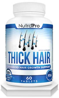 Thick Hair Growth Vitamins - Anti Hair Loss DHT Blocker Stimulates Fast Hair Growth for Weak, Thinning Hair - Biotin Hair Supplement with Keratin & Collagen Helps Men & Women Grow Perfect Hair.