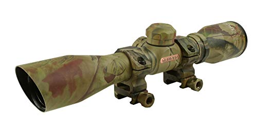 TRUGLO 4x32mm Compact Rimfire and Shotgun Scope Series, Diamond Reticle, Realtree Xtra (Best Turkey Hunting Shotgun Scope)