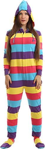 Womens Footed Pajamas - Funzee Adult Onesie Pjs Footed Pajamas Playsuit Festival Style Sizes XS-XXL (Medium)