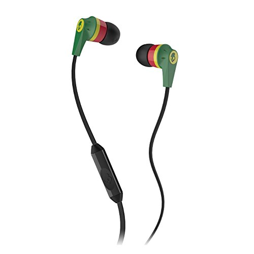 Skullcandy Ink'd 2 Earbud (Rasta) (Discontinued by Manufacturer)