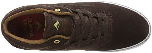 Emerica Westgate Mid Vulc, Men's Skateboarding Shoes Dark Brown