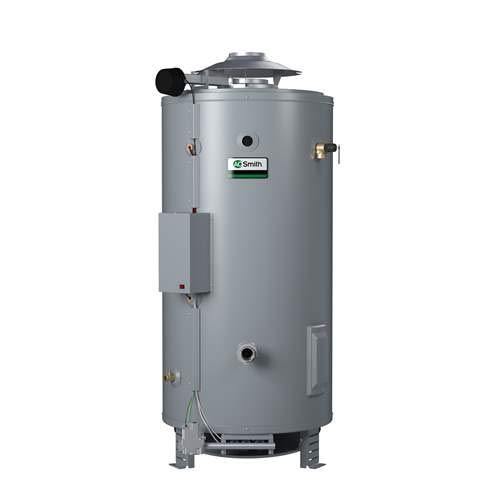 Propane Heater Hot Gal Water - AO Smith Master-Fit 100 Gal. 199000 BTU Tall Commercial 3 Year Limited Propane Tank Water Heater BTR-198-LP-A-ALT