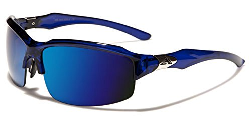 Mens Womens Sport Sunglasses Cycling Baseball Ski Snowboard Blue Mirror Lens - Ski Sunglasses Ladies