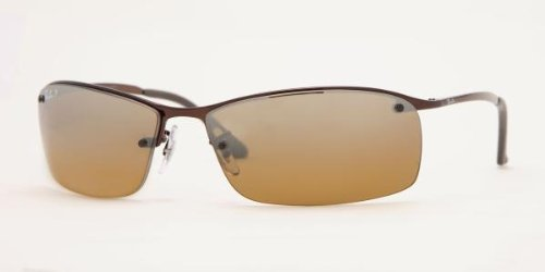 Ray-Ban Sunglasses - RB3183 Top Bar / Frame: Brown Lens: (Ray Ban Metal Wrap Brown)