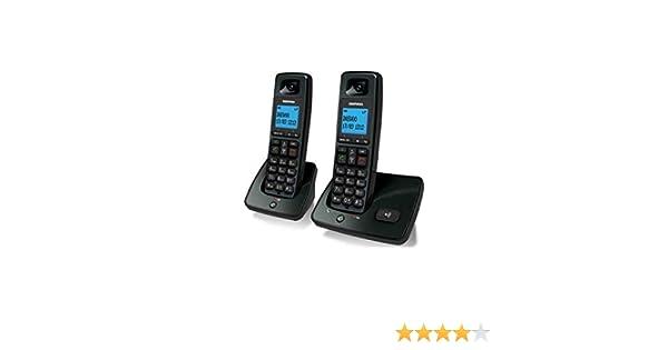 Daewoo 4400040348 - Teléfono inalámbrico (Capacidad Agenda de 100 contactos, Manos Libres) Color Negro: Amazon.es: Electrónica