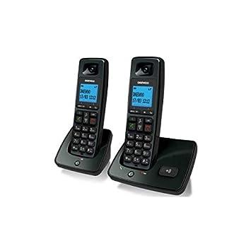 Daewoo 4400040348 - Teléfono inalámbrico (Capacidad Agenda de 100 contactos, Manos Libres) Color Negro